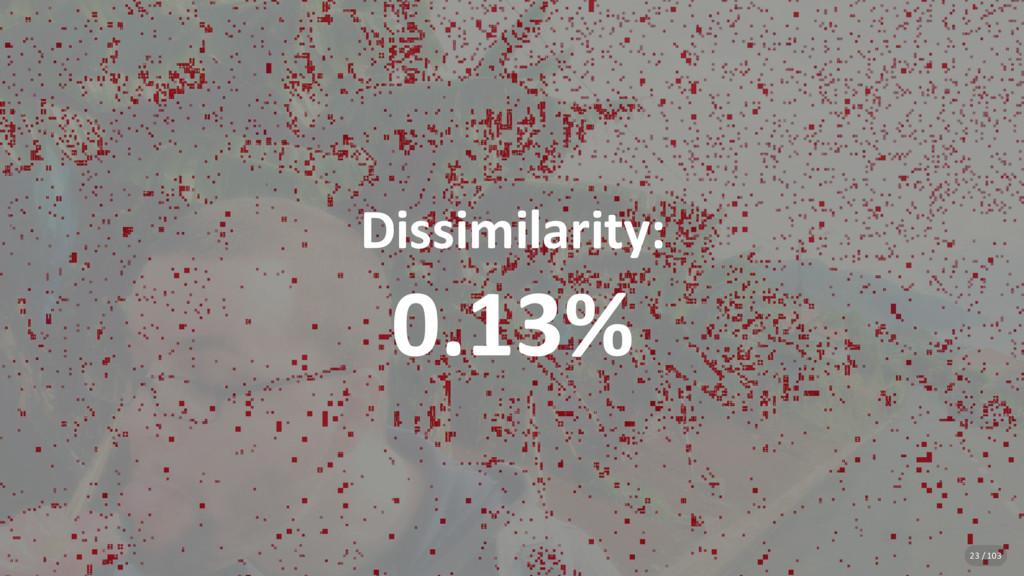 Dissimilarity: 0.13% 23 / 103