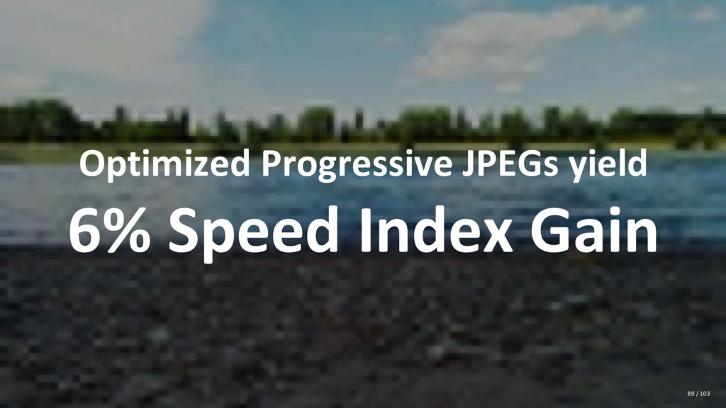 Optimized Progressive JPEGs yield 6% Speed Inde...