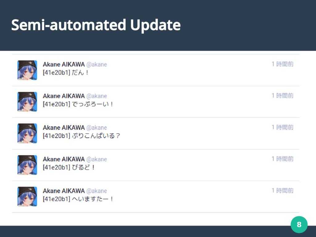 8 Semi-automated Update