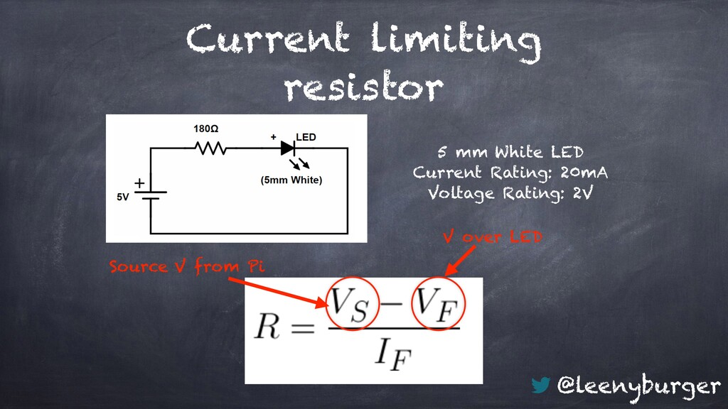 @leenyburger Current limiting resistor 5 mm Whi...
