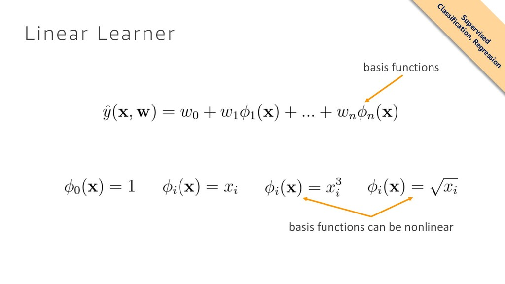Linear Learner basis functions basis functions ...