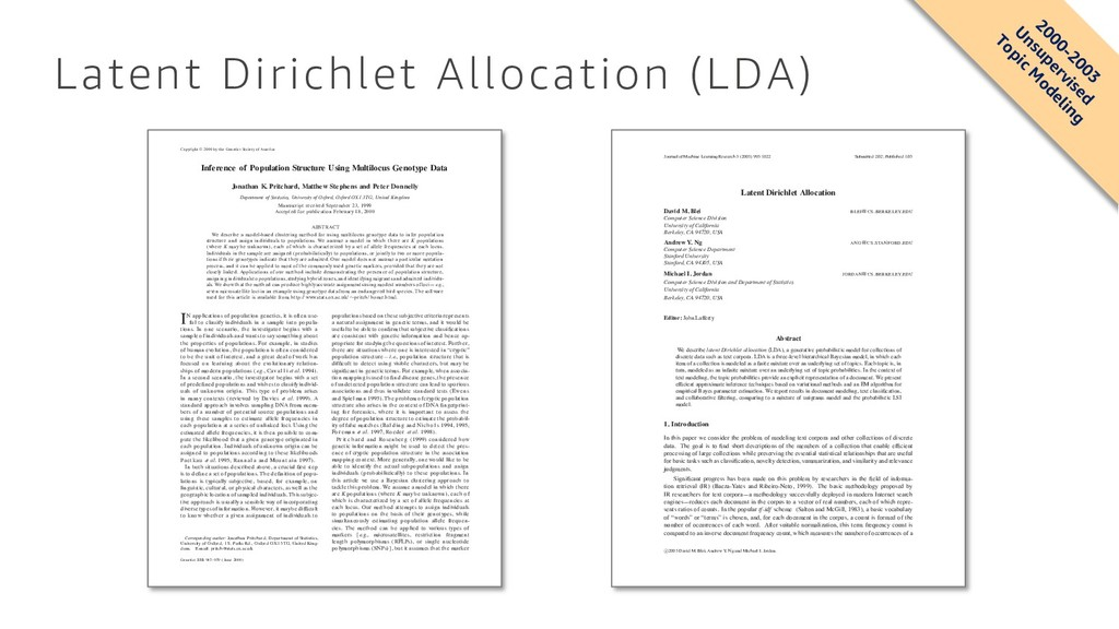 Latent Dirichlet Allocation (LDA) Copyright  2...