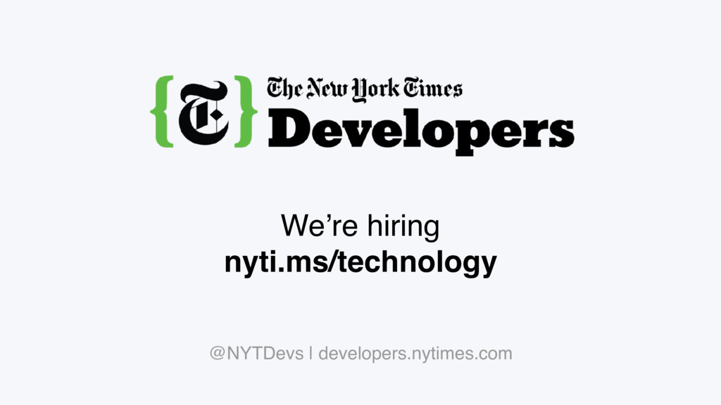We're hiring nyti.ms/technology @NYTDevs | deve...