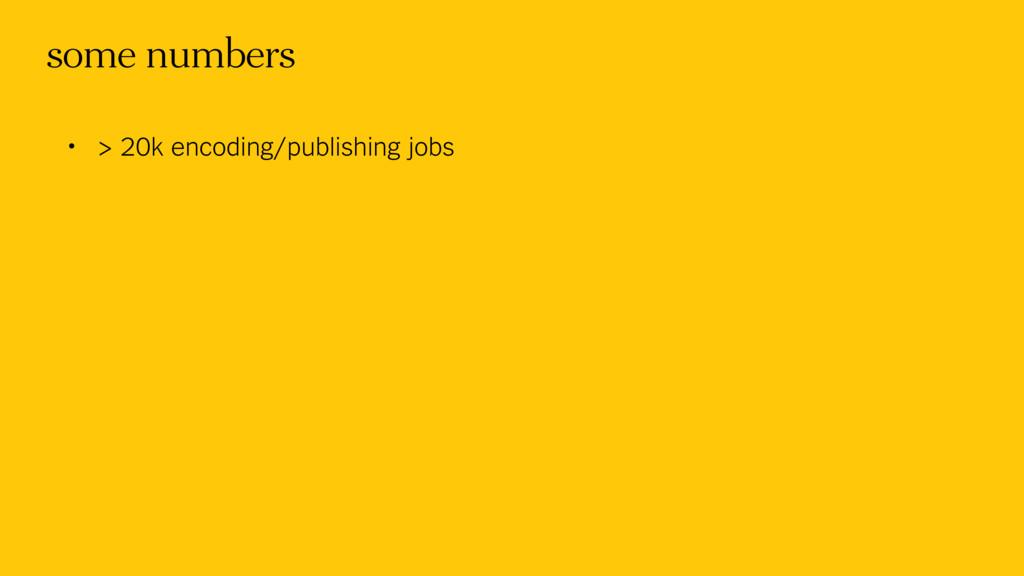 some numbers • > 20k encoding/publishing jobs
