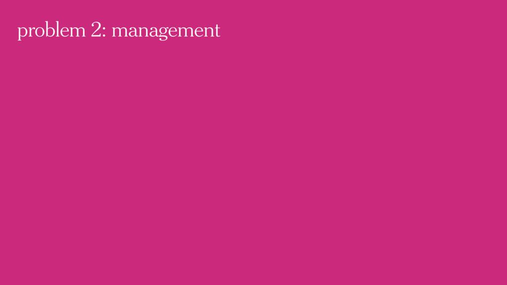 problem 2: management