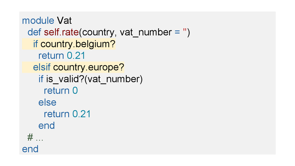 module Vat def self.rate(country, vat_number = ...