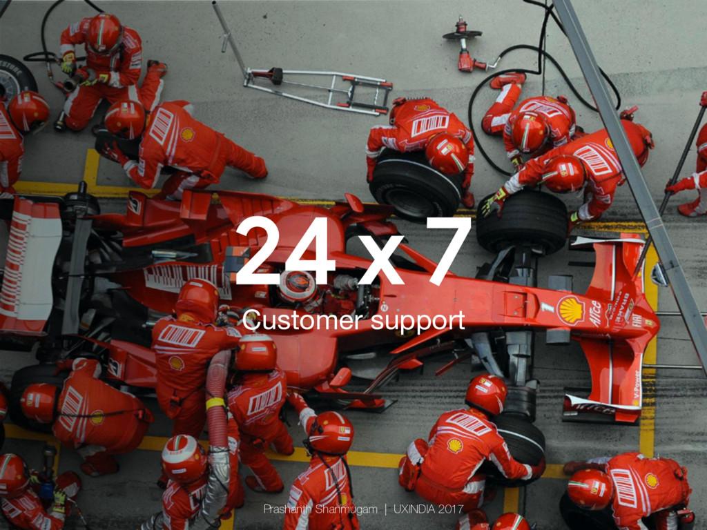 24 x 7 Customer support Prashanth Shanmugam   ...