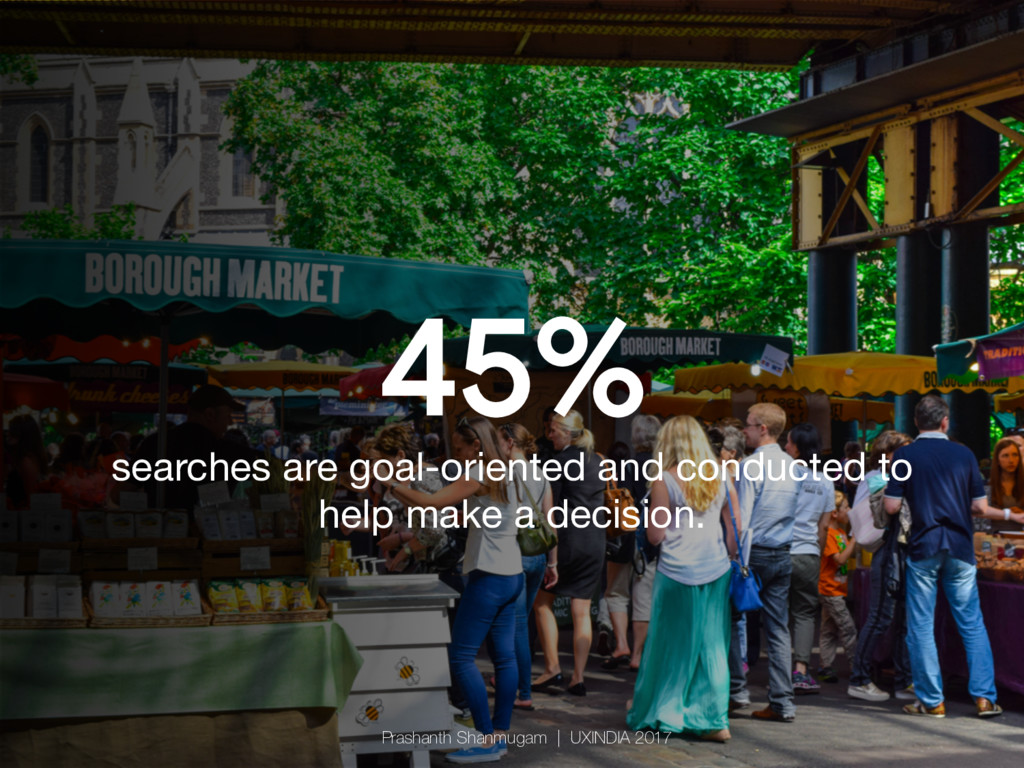 45% searches are goal-oriented and conducted to...