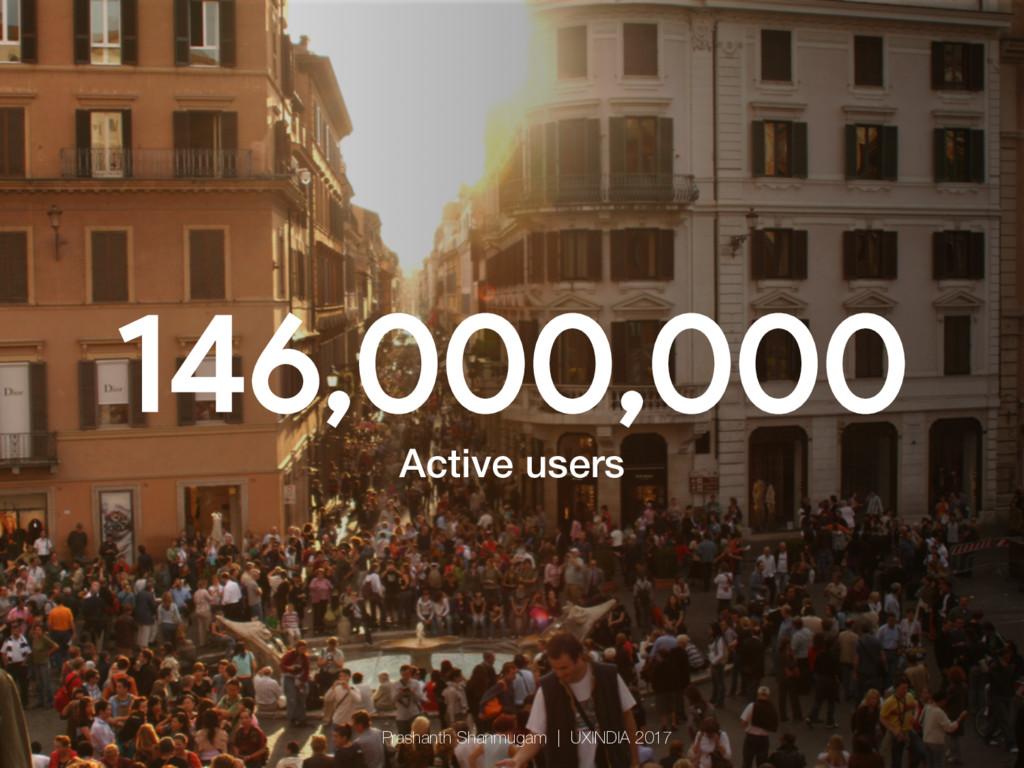 146,000,000 Active users! Prashanth Shanmugam ...