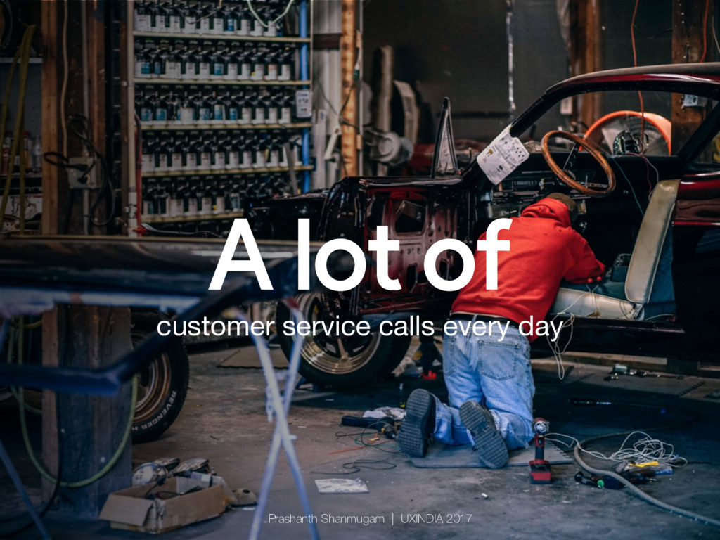 A lot of customer service calls every day Pras...
