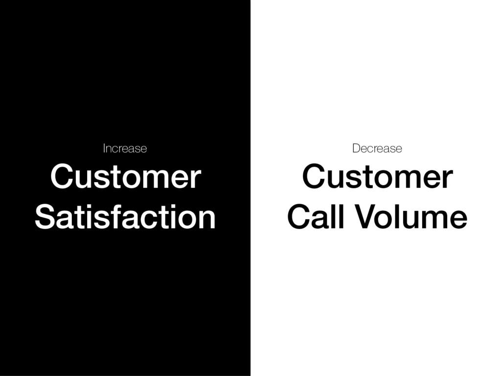 Increase Customer Satisfaction! Decrease Custom...