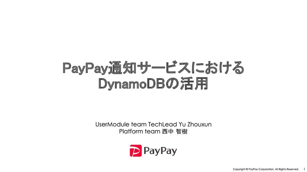 ay ay通知サービスにおける DynamoDB 活用  西中 智樹