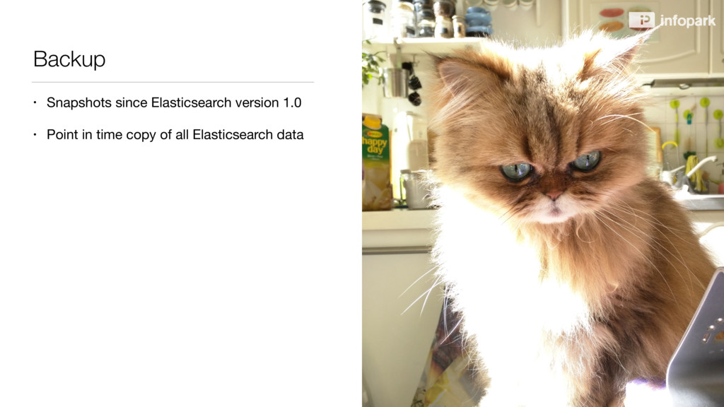 Backup • Snapshots since Elasticsearch version ...