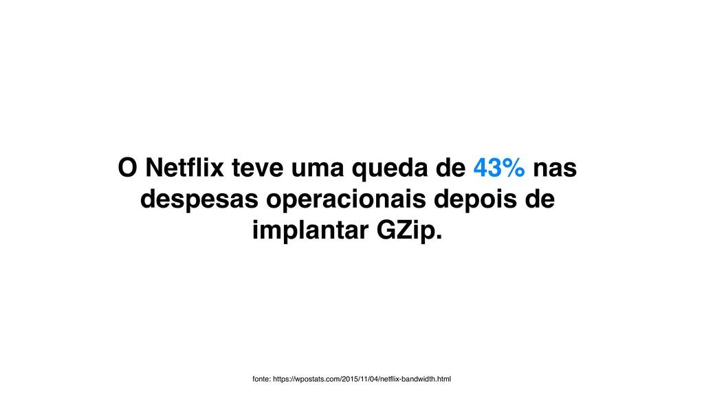 O Netflix teve uma queda de 43% nas despesas ope...