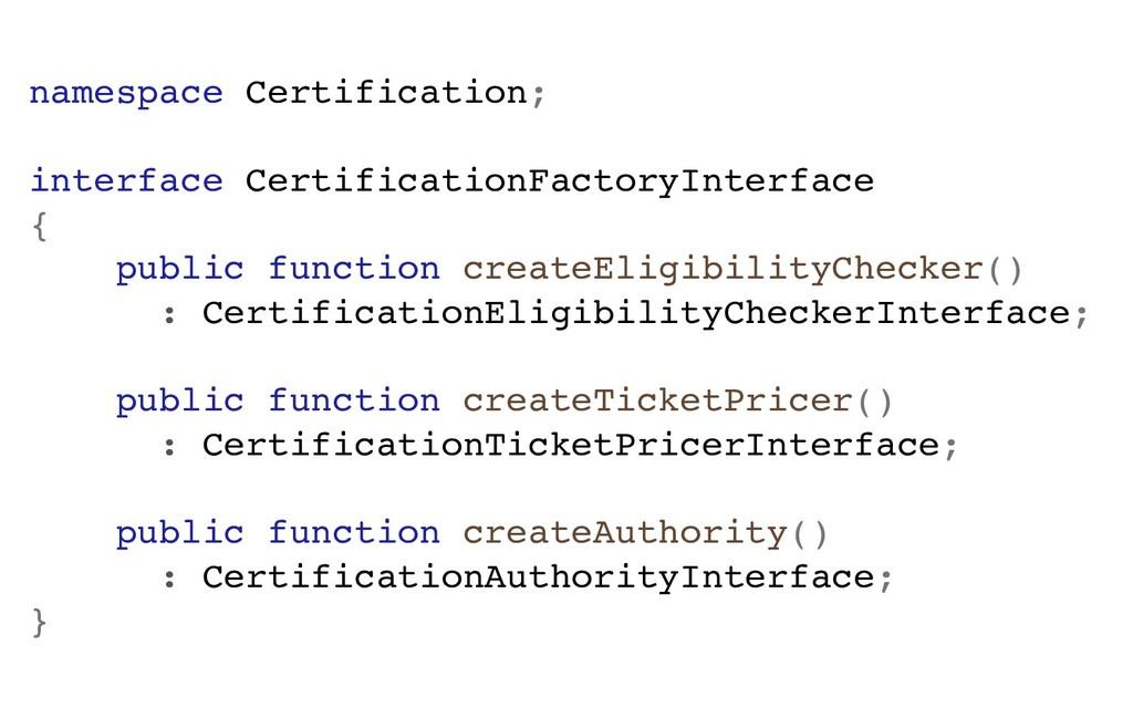namespace Certification; interface Certificatio...