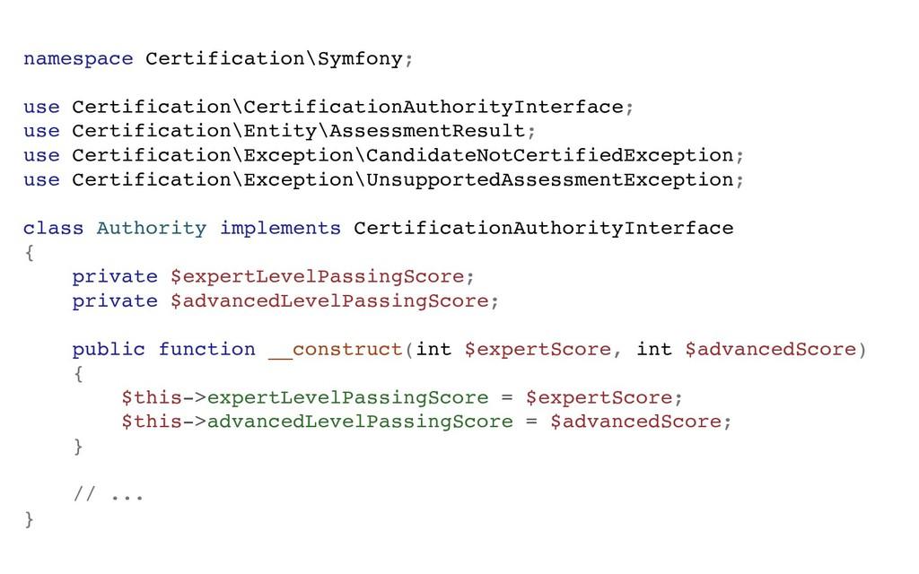 namespace Certification\Symfony; use Certificat...