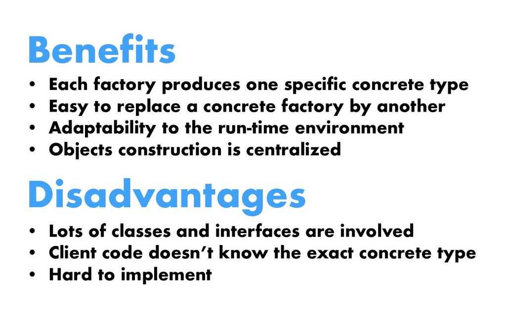Benefits • Each factory produces one specific c...