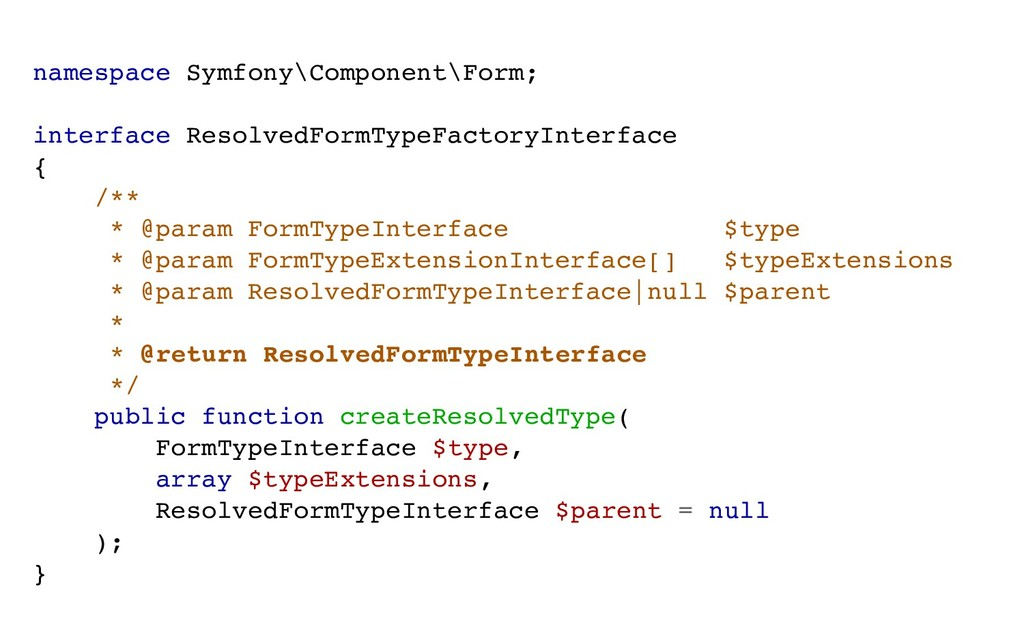 namespace Symfony\Component\Form; interface Res...