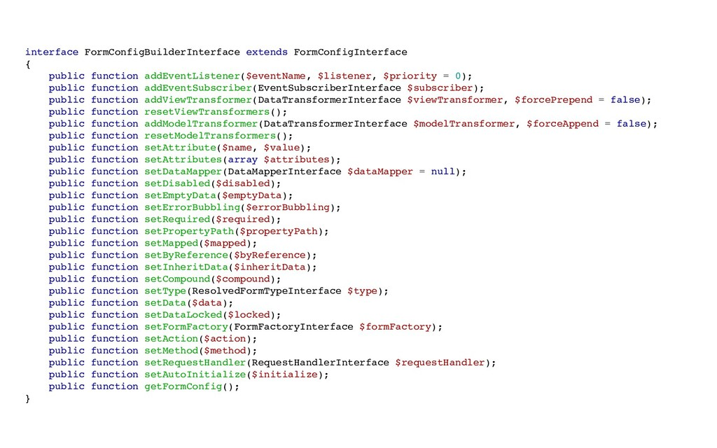 interface FormConfigBuilderInterface extends Fo...
