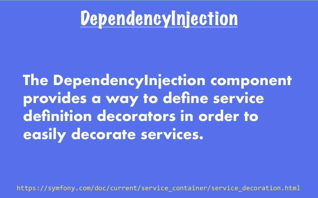 DependencyInjection The DependencyInjection com...