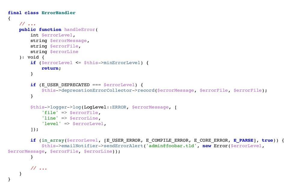 final class ErrorHandler { // ... public functi...