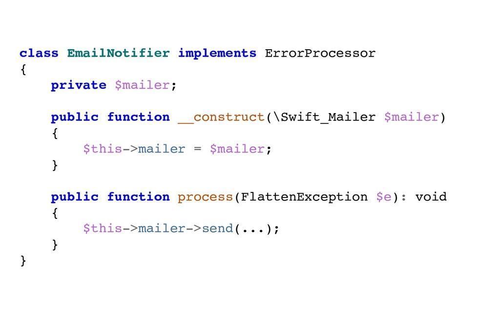 class EmailNotifier implements ErrorProcessor {...