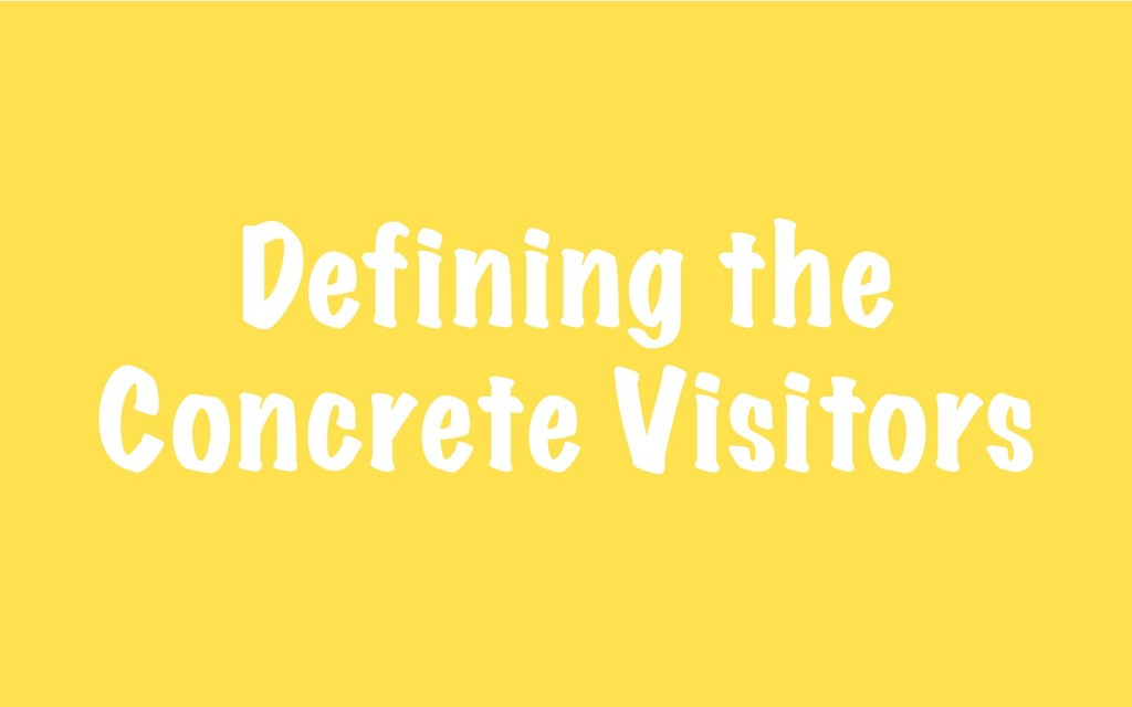 Defining the Concrete Visitors