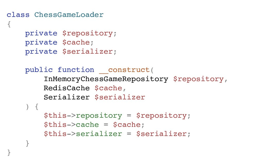 class ChessGameLoader { private $repository; pr...