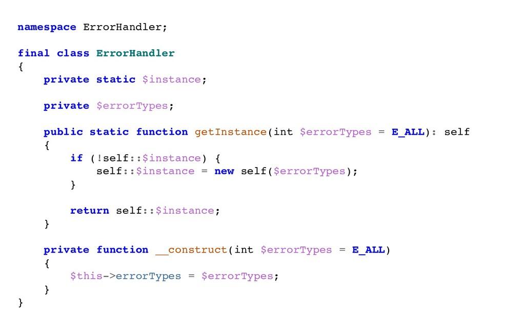 namespace ErrorHandler; final class ErrorHandle...