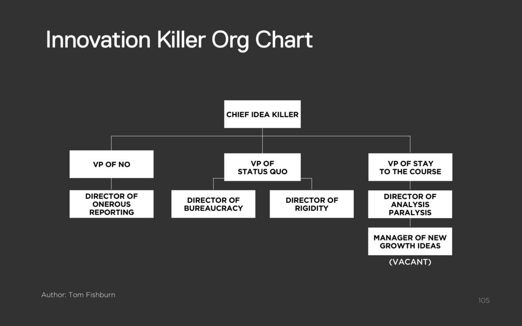 CHIEF IDEA KILLER DIRECTOR OF BUREAUCRACY VP OF...