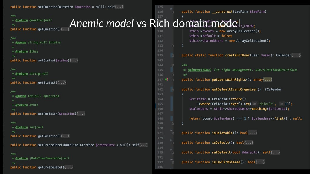 Anemic model vs Rich domain model