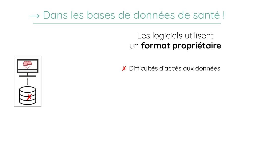 ✗ Difficultés d'accès aux données → Dans les ba...