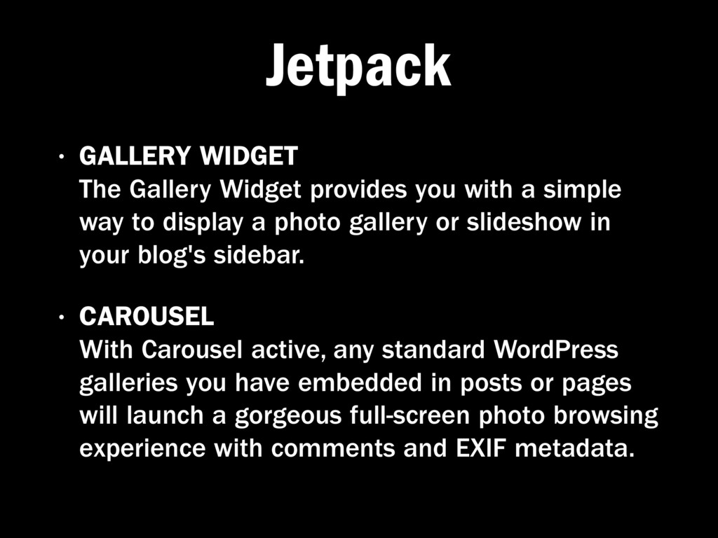 Jetpack • GALLERY WIDGET