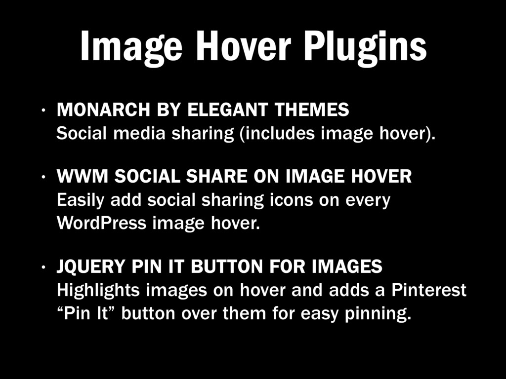 Image Hover Plugins • MONARCH BY ELEGANT THEMES...