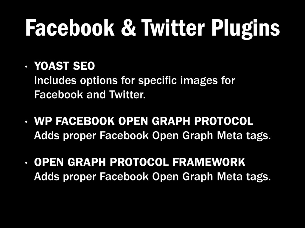 Facebook & Twitter Plugins • YOAST SEO