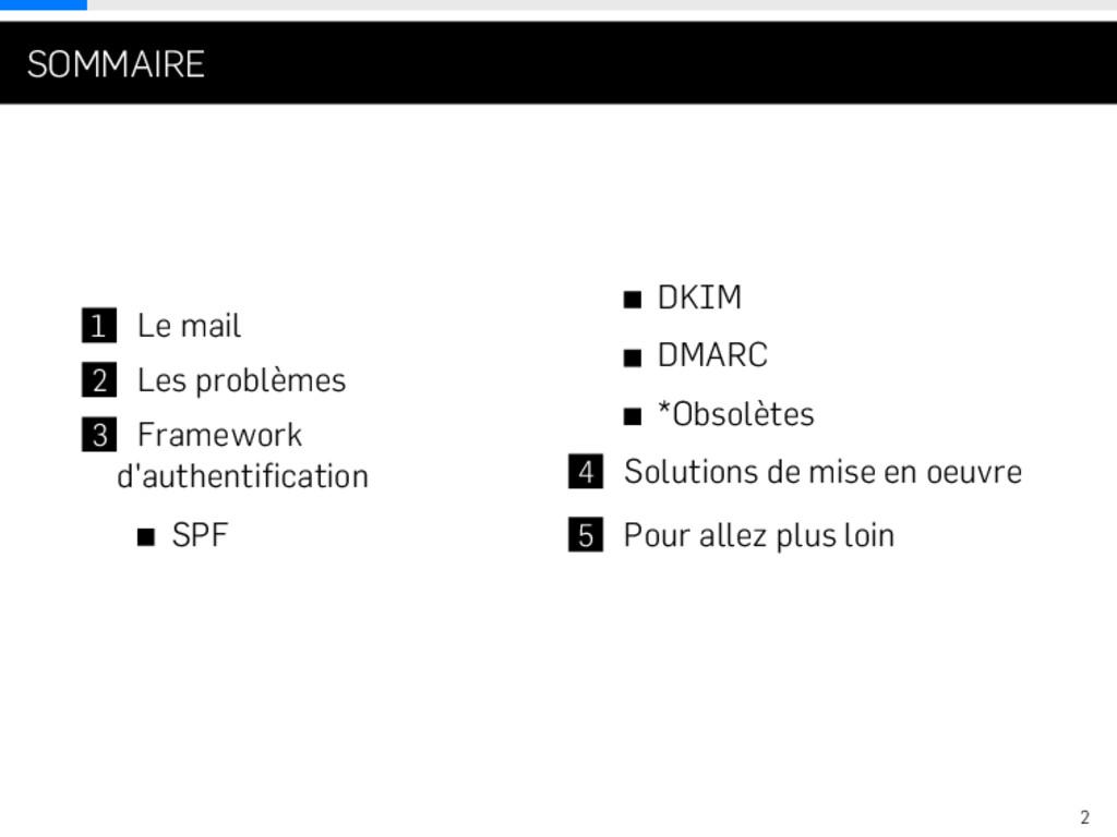 . . . SOMMAIRE 1 Le mail 2 Les problèmes 3 Fram...