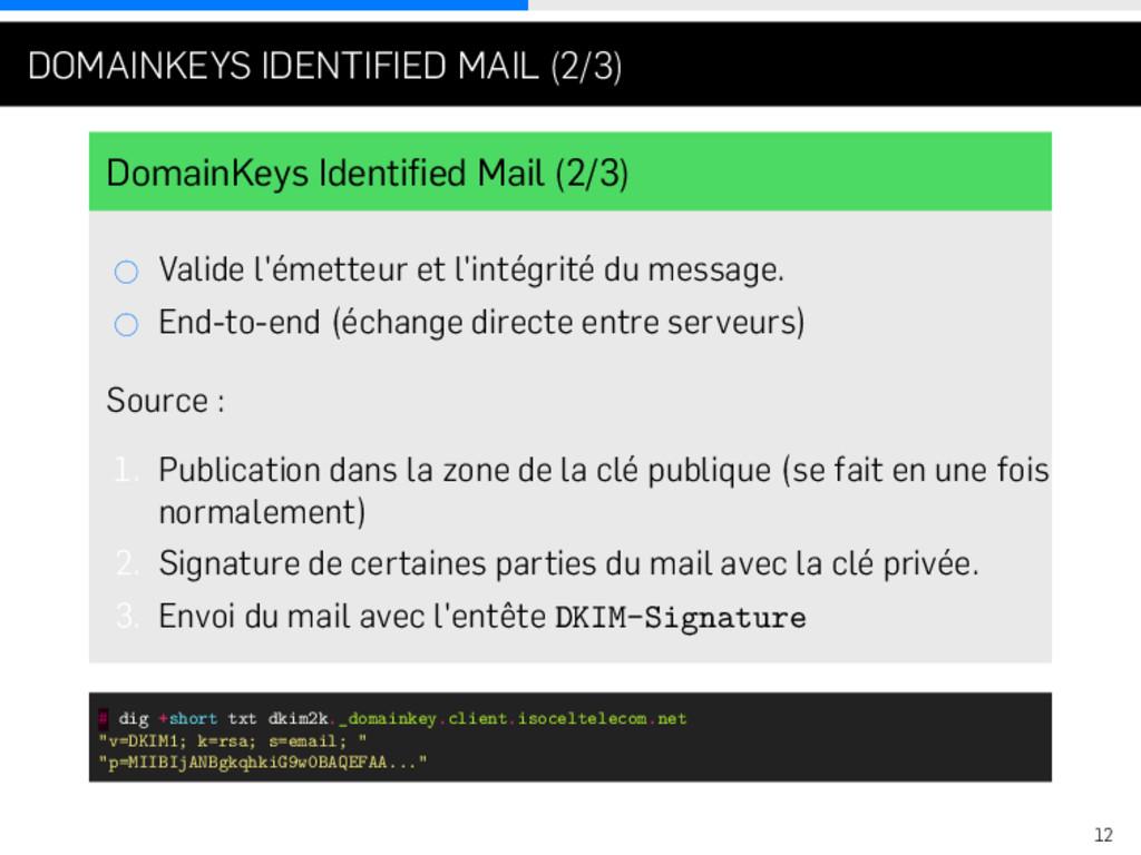 . . . DOMAINKEYS IDENTIFIED MAIL (2/3) DomainKe...