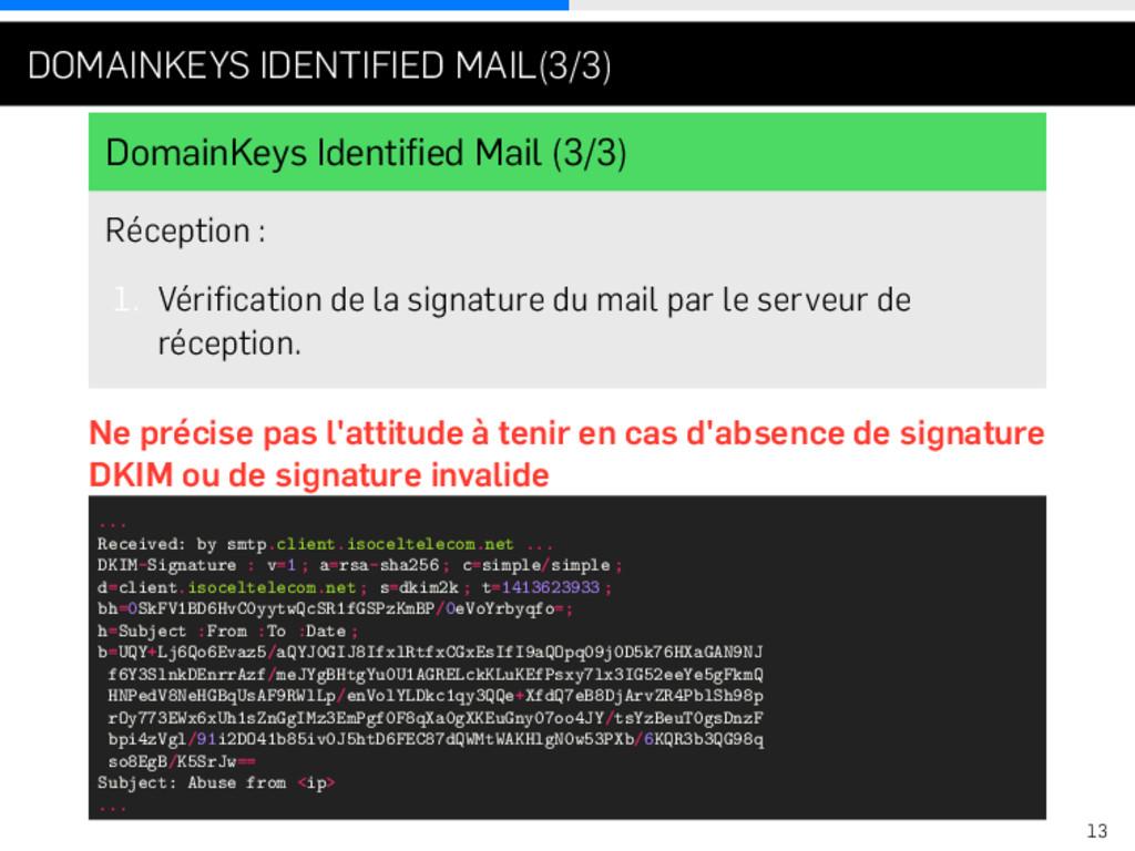 . . . DOMAINKEYS IDENTIFIED MAIL(3/3) DomainKey...