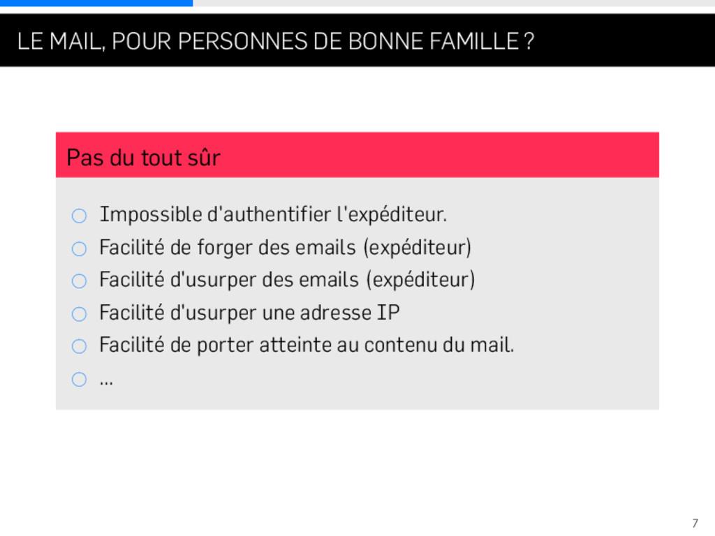 . . . LE MAIL, POUR PERSONNES DE BONNE FAMILLE ...
