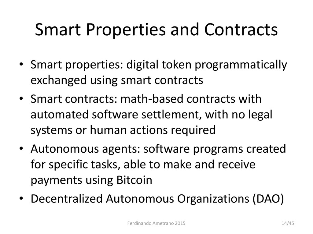 Smart Properties and Contracts • Smart properti...