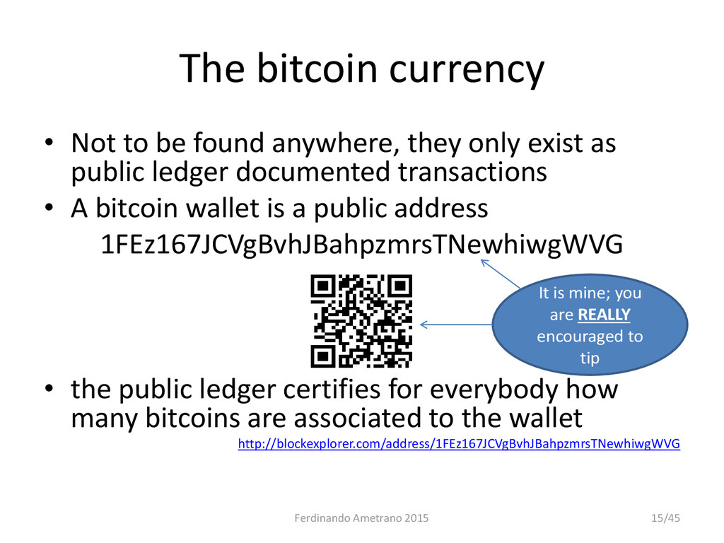 The bitcoin currency • Not to be found anywhere...
