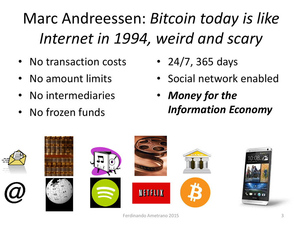 Marc Andreessen: Bitcoin today is like Internet...