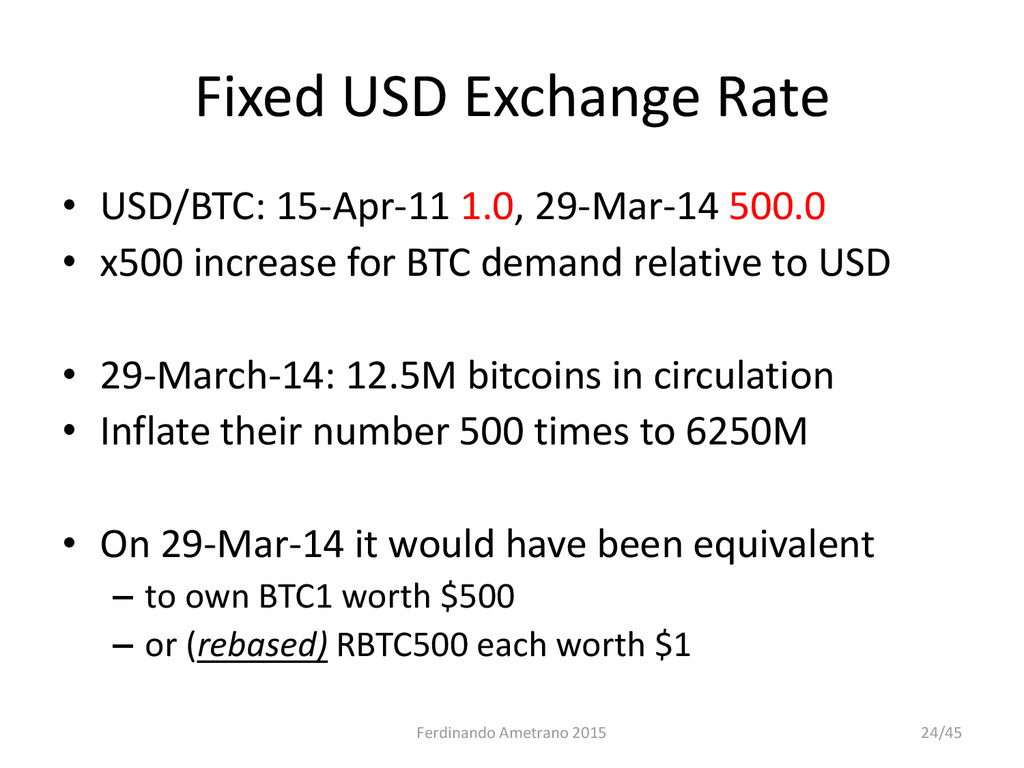 Fixed USD Exchange Rate • USD/BTC: 15-Apr-11 1....