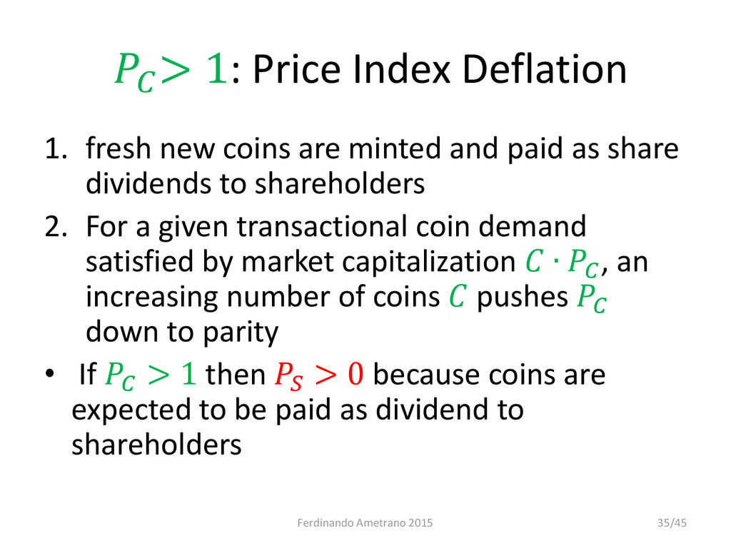 > 1: Price Index Deflation 1. fresh new coins ...