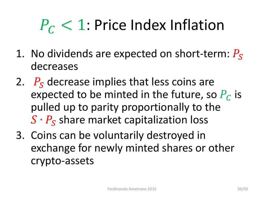 < 1: Price Index Inflation 1. No dividends are...