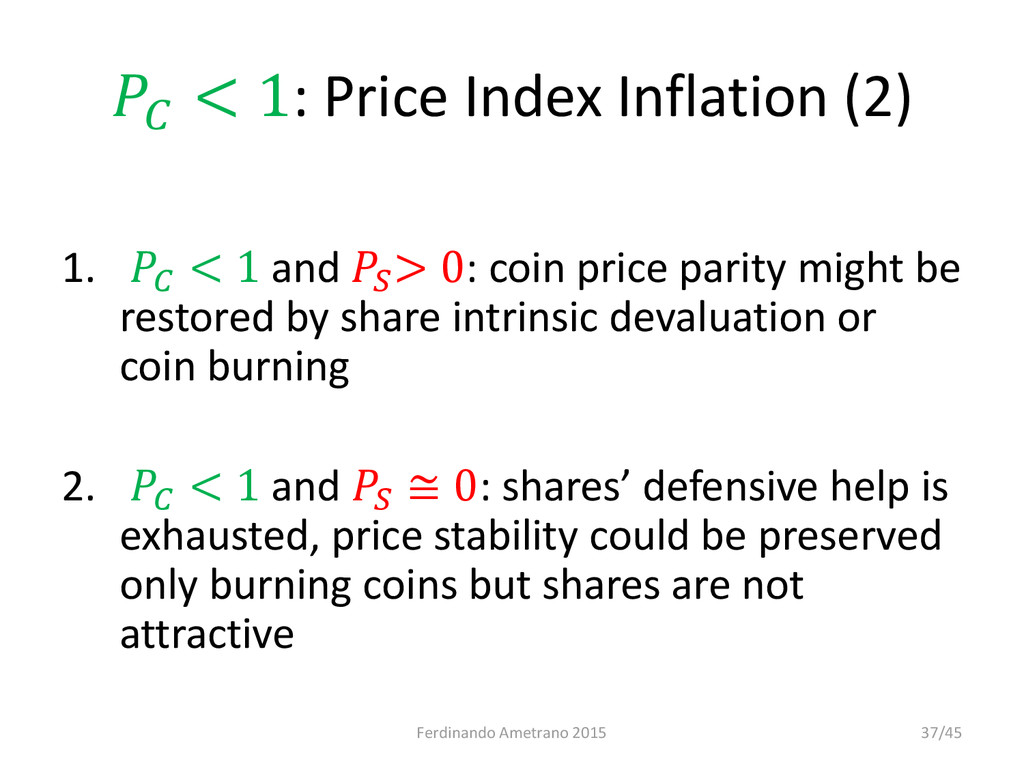 < 1: Price Index Inflation (2) 1.  < 1 and  > ...