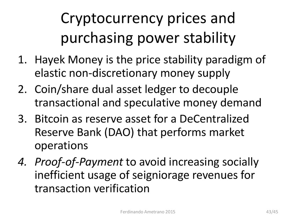 Cryptocurrency prices and purchasing power stab...