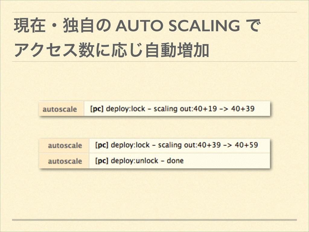 ݱࡏɾಠࣗͷ AUTO SCALING Ͱ ΞΫηεʹԠࣗ͡ಈ૿Ճ