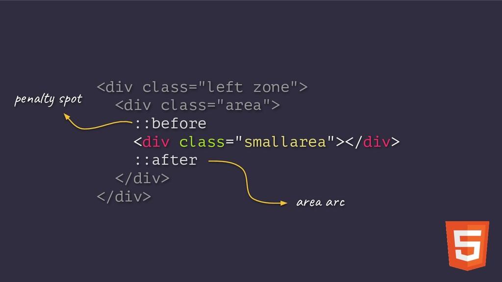 "<div class=""left zone""> <div class=""area""> ::be..."
