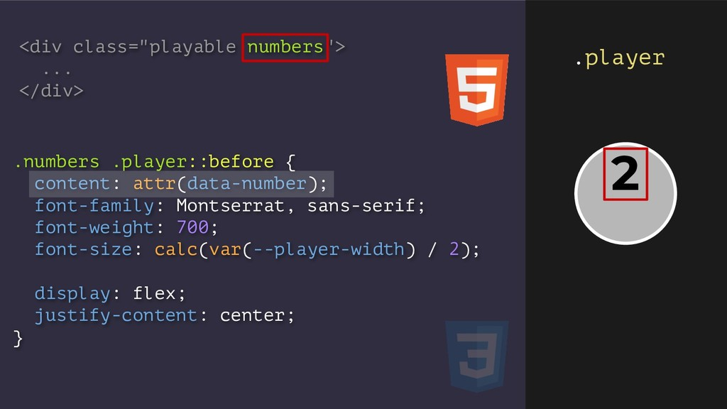 .numbers .player::before { content: attr(data-n...